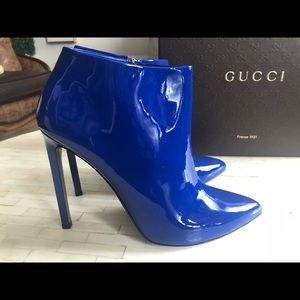 6081aa874 Gucci Shoes | Electric Blue Booties Showstoppers | Poshmark